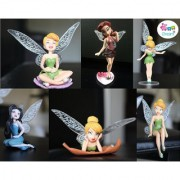 iDream Tinker Bell Fairy Princess Doll Gift Set for Kids (Pack of 6)