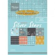 CreativeHobby Papier do scrapbookingu Silver Stars 15x21 cm - SIST