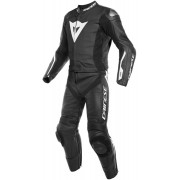 Dainese Avro D-Air® Airbag De dos piezas traje de cuero moto Negro Blanco 50
