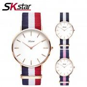 Watches Women Fashion Watch 2017 Unisex Watches SKstar Rose Gold Silver Lady Clock Men Relogio Masculino Horloge Orologi Donna