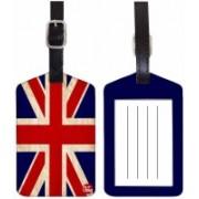 Nutcaseshop BRITISH Luggage Tag(Multicolor)