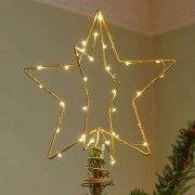 Christmas Top LED decorative light, gold