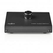 Nedis ASWI2404BK analóg audiokapcsoló 1x 3.5mm jack - 3x RCA aljzat