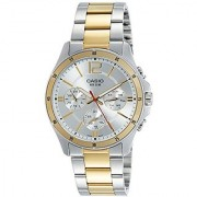 Casio Enticer Analog White Dial Mens Watch - MTP-1374SG-7AVDF (A954)