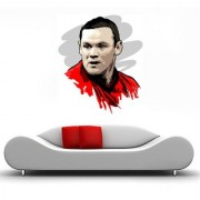 Wall Sticker Wayne Rooney Design (Cover Area :- 24 X 29 inch)