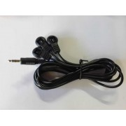 2-Ring Triple IR Eyes Receiver Cable for any IR Equipment with 3.5mm Jack