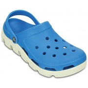 Crocs Unisex Duet Sport Clog Ocean and White Rubber Clogs and Mules - M8W10 (11991-49Y)