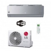 LG Condizionatore Mono Split 9000 Btu Parete ARTCOOL Silver Inverter Argento WiFi AC09SQ.NSJ AC09BQ.UA3 A++ A+ 2.5 kW R-32