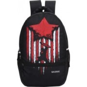 Sassie 31 LTR Black School Bag/Casual Backpack with Laptop Compartment (SSN-1089) Waterproof School Bag(Multicolor, 31 L)