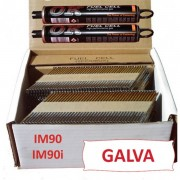 Pack 2200 clous 3.1x80 CRANTEES GALVA pour Paslode IM90 / IM90I