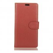 Shop4 - Sony Xperia L2 Hoesje - Wallet Case Lychee Bruin