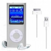 Mini MP3 MP4 Player Radio cu afisaj digital capacitate card pana la 32GB culoare Argintiu