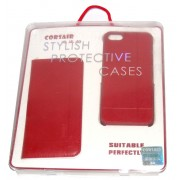 Кожен калъф CORSAIR за Apple iPhone 5/5S Червен