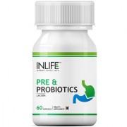 INLIFE Prebiotics Probiotics 60 Capsules Digestion Acidity Supplement