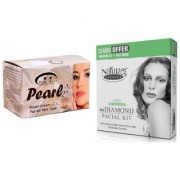 Nature's Essence Ravishing Mini Diamond Facial Kit 52g + 60ml Pink Root Pearl Bleach 250g