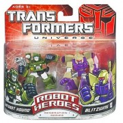 Transformers Universe Robot Heroes Autobot Hound and Blitzwing Action Figures