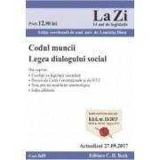Codul muncii. Legea dialogului social Act. 27.09.2017