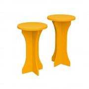 Bertolini set de mesas luck bertolini amarillo 2 pzs