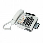 Geemarc PHOTO100_WH_IF Téléphone filaire Blanc avec mémoires photos (version Franà §aise)