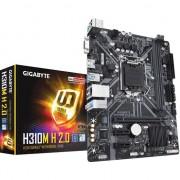 Placa de baza Gigabyte LGA1151 H 2.0 , Intel H310 , ATX extins , DDR4 , Sloturi 2 , Micro ATX