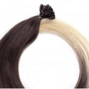 Rapunzel® Extensions Naturali Nail Hair Original Liscio O2.6/8.0 Dark Ash Blond Ombre 50 cm