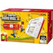 Nintendo 2DS Blanca/Roja + New Super Mario Bros Special Edition (Preinstalado)