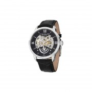 Stuhrling Original Men's 574.02 Executive II Automatic Skeleton Black Leather Band Watch