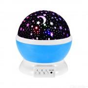 Starry Sky Rotating LED Night Light Star Moon Projection Lamp For Children Kids Bedroom