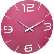 Ceas de perete cuarţ 350 x 35 mm roz TFA Dostmann 60.3047.12