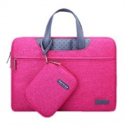 15.6 inch Cartinoe Business Series Exquisite Zipper Portable Handheld Laptop Bag with Independent Power Package for MacBook Lenovo and other Laptops Internal Size:36.5x24.0x3.0cm(Magenta)