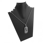 eshoppee S name plate locket with dog tag for men and women