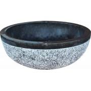 Mosdókagyló természetes kőből - EMMA Black