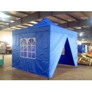 Partytent Easy Up Aluminium 4 x 4 meter met zijwanden in Blauw
