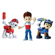 Paw Patrol Action Pack Pups 3Pk Figure Set Marshall, Ryder, Chase - Multi Color