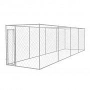 vidaXL Hundkennel för utomhusbruk 8x2 m