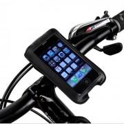 """""""ROSWHEEL bolsa de telefono manillar de la bicicleta de 4 telefonos moviles """""""" - negro ( 1L )"""""""