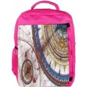 Snoogg Eco Friendly Canvas Fractal Design Artistic Designer Backpack Rucksack School Travel Unisex Casual Canvas Bag Bookbag Satchel 5 L Backpack(Pink)