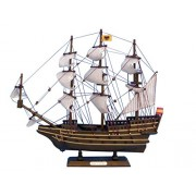 Hampton Nautical Wooden San Felipe Tall Model Ship