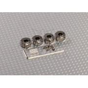 Adaptoare argintii pentru jante cu hex de 12mm, cu suruburi de fixare- 6 mm latime