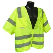 Radians SV83GMM Class 3 Standard Mesh Safety Vest with Short Sleeves, Medium, Green by