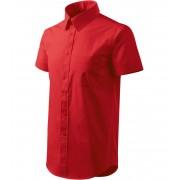 ADLER Shirt short sleeve Pánská košile 20707 červená XL