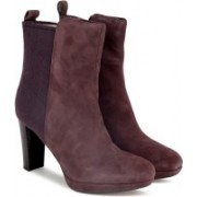 Clarks Kendra Porter Aubergine Boots For Women(Purple)