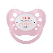 YourSurprise Meter fopspeen met naam - Roze