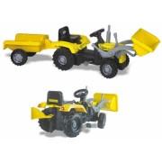 Tractor excavator cu pedale si remorca