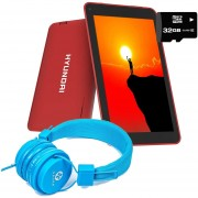 """Tablet Hyundai Koral 7w2 7"""" Quadcore 8gb + Sd 32gb Red + Diadema"""