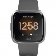 Ceas Smartwatch Fitbit Versa Lite, HR, Silicon, Silver Aluminum, Curea Charcoal