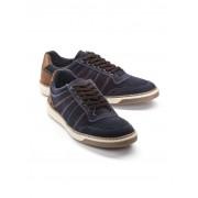 Walbusch City-Sneaker Velours Blau 41