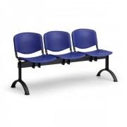 Kovo Praktik Plastové lavice ISO II, 3-sedák, černé nohy modrá