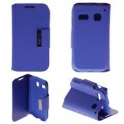 Etui Coque Housse Portefeuille Rabat Clapet Alcatel One Touch Pop C3 Simili Cuir - Bleu