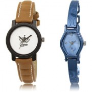 The Shopoholic White Blue Combo Latest Collection Fancy And Attractive White And Blue Dial Analog Watch For Girls Leather Watches For Men